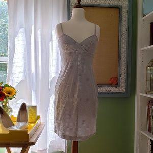 Isaac Mizrahi seersucker pinstripe dress